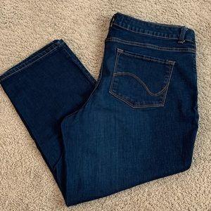 Like New! Cropped Jeans, Modern Curvy Fit, Sz 18
